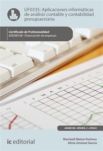 E-book Aplicaciones Informáticas De Análisis Contable Y Contabilidad Presupuestaria. Adgn0108