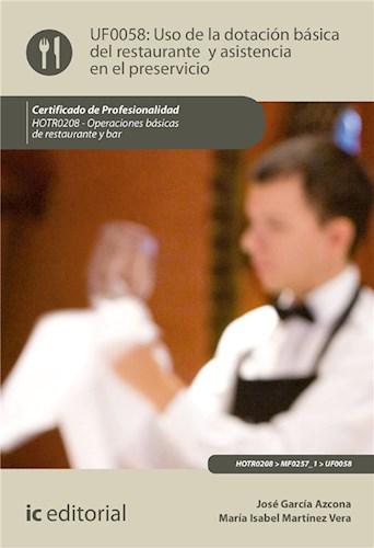E-book Uso De La Dotación Básica Del Restaurante Y Asistencia En El Preservicio. Hotr0208