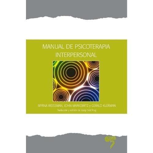 Papel MANUAL DE PSICOTERAPIA INTERPERSONAL