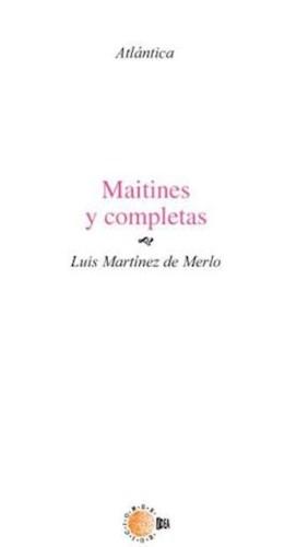 E-book Maitines Y Completas