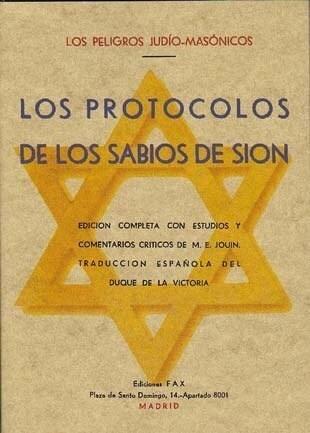 Papel LOS PROTOCOLOS DE LOS SABIOS DE SION