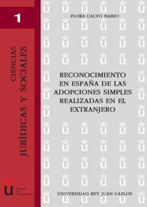E-book Reconocimiento En España De Las Adopciones Simples Realizadas En El Extranjero
