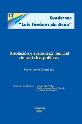 E-book Disolución Y Suspensión Judicial De Partidos Políticos