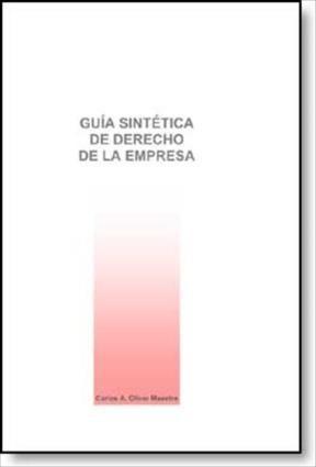 E-book Guía Sintética De Derecho De La Empresa