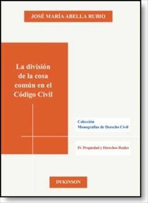 E-book La División De La Cosa Común En El Código Civil
