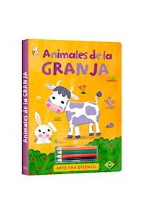 Papel Animales De La Granja - Arte Con Esténcil