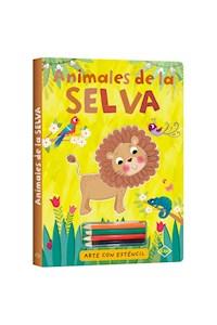 Papel Animales De La Selva - Arte Con Esténcil