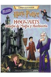Papel Libro Escenario - Harry Potter (Colegio De Magos Hogwwarts)