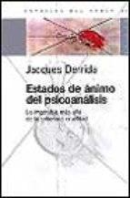 Papel ESTADOS DE ANIMO DEL PSICOANALISIS (BIBLIOTECA FUNDAMENTAL DE LAS CIENCIAS DE LA PSICOLOGIA 8060007)
