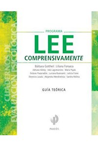 Papel Programa Lee Comprensivamente - Guía Teórica