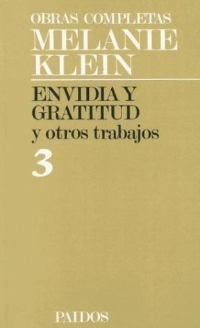 Papel TOMO 3.ENVIDIA Y GRATITUD Y OTROS TRABAJOS