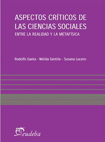 E-book Aspectos críticos de las ciencias sociales