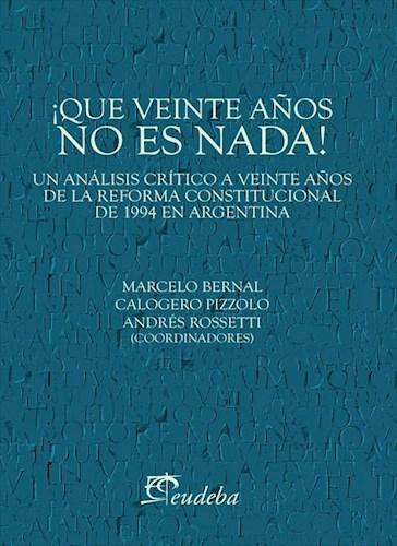 E-book ¡Qué veinte años no es nada!