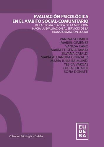 Papel Evaluación Psicológica en el ámbito social-comunitario