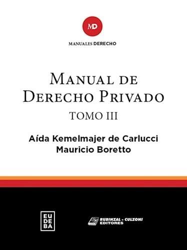 Papel Manual de derecho privado. Tomo III