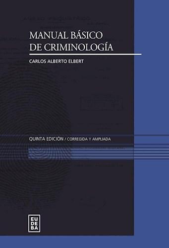 E-book Manual básico de criminología