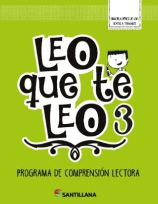 Libro Leo Que Te Leo 3