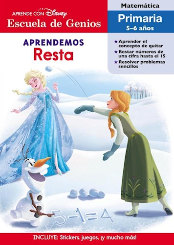 Papel APRENDEMOS RESTA (ESCUELA DE GENIOS) (INCLUYE STICKERS JUEGOS Y MUCHO MAS) (RUSTICO)