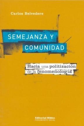 Libro Semejanza Y Comunidad
