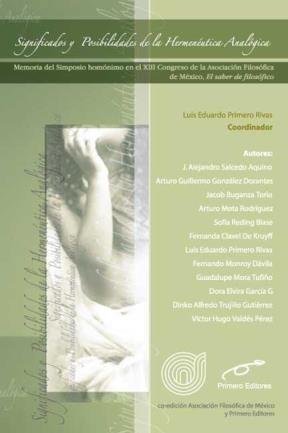 E-book Significado Y Posibilidades De La Hermenéutica Analógica