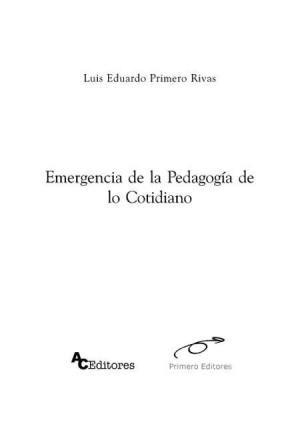 E-book Emergencia De La Pedagogía De Lo Cotidiano