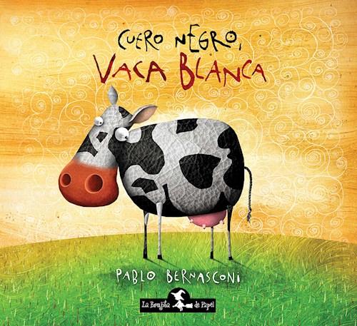 Libro Cuero Negro Vaca Blanca
