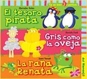 Libro El Tesoro Pirata / Gris Como La Oveja / La Rana Renata