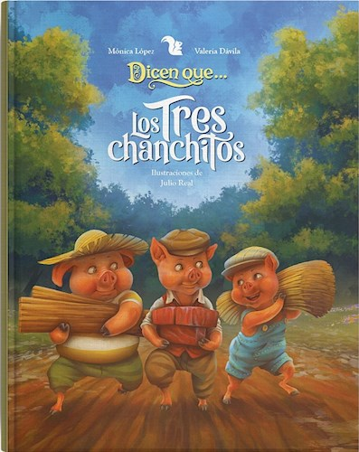 Papel DICEN QUE TRES CHANCHITOS (ILUSTRACIONES JULIO REAL) (CARTONE)