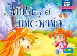 Papel Anita Y El Unicornio -Mini  Pop-Up