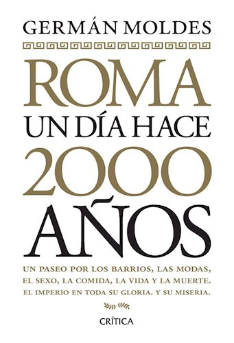 Libro Roma  Un Dia Hace Dos Mil Años