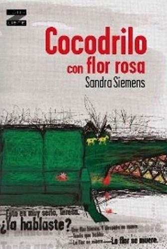 Papel Cocodrilo Con Flor Rosa