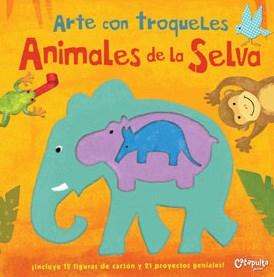 Papel Arte Con Troqueles Animales De La Selva