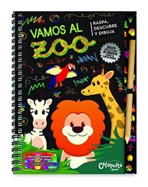 Papel Raspa, Descubre Y Dibuja: Vamos Al Zoo