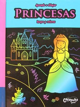 Papel Aprende A Dibujar, Raspa Y Colorea: Princesas