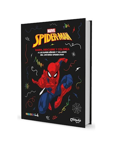 Papel SPIDERMAN RASPA DESCUBRE Y COLOREA A LOS SUPER HEROES Y VILLANOS DEL UNIVERSO SPIDERMAN (SCRATCHINK)