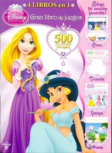 Papel Coleccion 4 En 1 Gran Libro De Juegos Disney Princesa