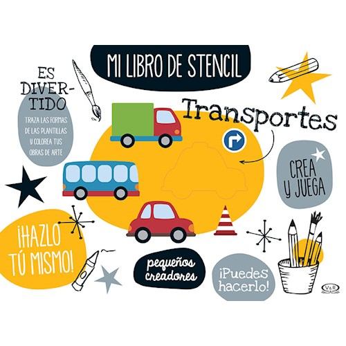 Papel MI LIBRO DE STENCIL - TRANSPORTES