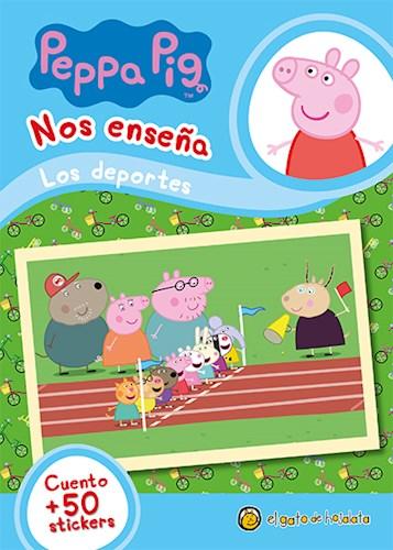 Papel PEPPA PIG NOS ENSEÑA LOS DEPORTES [CUENTO Y MAS DE 50 STICKERS] (MIS PERSONAJES FAVORITOS)