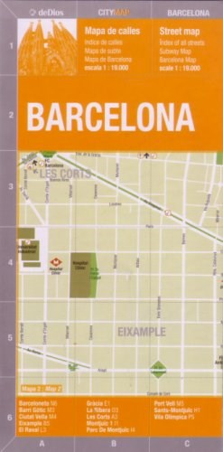 Papel Barcelona City Map