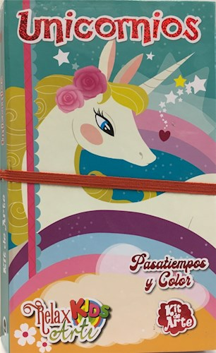 Libro Relax Arte Kids -Kit De Arte -Unicornios