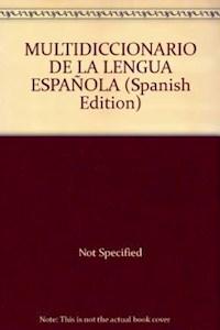 Papel Multidiccionario De La Lengua Española  N/Versión