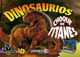 Papel Dinosaurios Pop Up Choque De Titanes