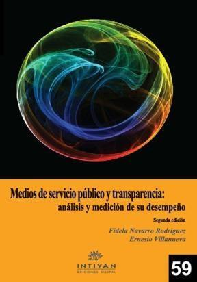E-book Medios De Servicio Público Y Transparencia: Análisis De Medición Y Desempeño