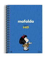 Papel Agenda Mafalda 2019 Anillada Azul Clara