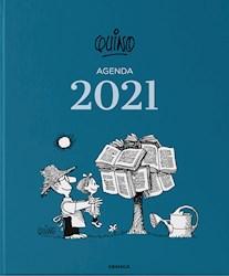 Papel Agenda Quino 2021 Azul Oscuro