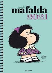 Papel Agenda Mafalda 2021 Anillada Celeste