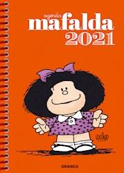 Papel Agenda Mafalda 2021 Anillada Anaranjada