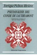 Papel PSICOANALISIS DEL CONDE DE LAUTREMONT (COLECCION BIBLIOTECA DE PSICOANALISIS)