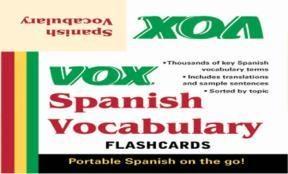 E-book VOX Spanish Vocabulary Flashcards