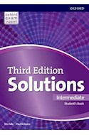 Papel SOLUTIONS INTERMEDIATE STUDENT'S BOOK OXFORD (THIRD EDITION) (OXFORD EXAM SUPPORT) (NOV. 2018)